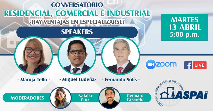 Conversatorio: Residencial, Comercial e Industrial