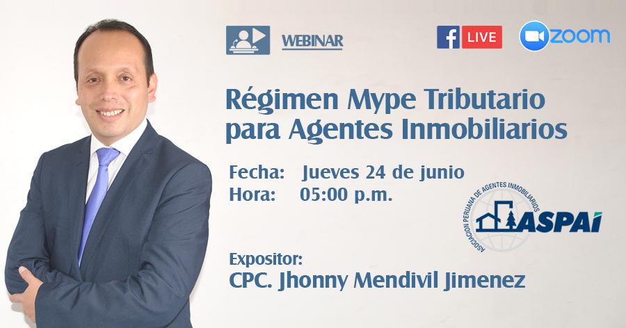 Régimen MYPE Tributario para Agentes Inmobiliarios